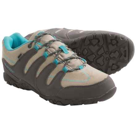 Hi-Tec Romsey Low Hiking Shoes - Waterproof (For Women) in Grey/Graphite/Bahama Blue - Closeouts