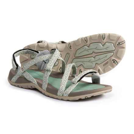 Hi-Tec Santorini Strap Sandals (For Women) in Jadeite/Warm Grey - Closeouts