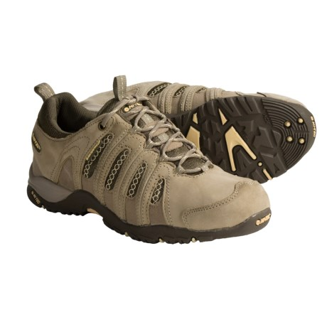 Hi-Tec Saratoga Nubuck-Mesh Trail Shoes - Waterproof (For Women) in Taupe/Golden Haze