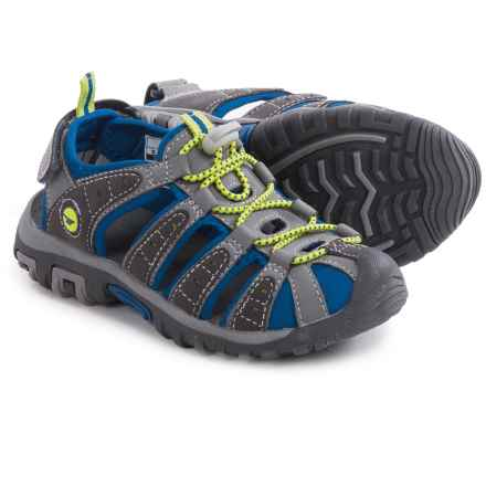 Hi-Tec Shore Sport Sandals (For Little and Big Kids) in Grey/Cobalt/Limoncello - Closeouts