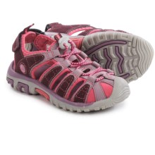 Hi-Tec Shore Sport Sandals (For Little and Big Kids) in Plum/Elderberry/Blossom - Closeouts