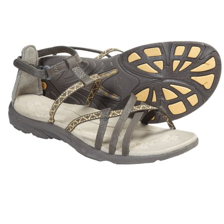 Hi-Tec Sienna Strap Leather Sandals (For Women) in Smoky Brown