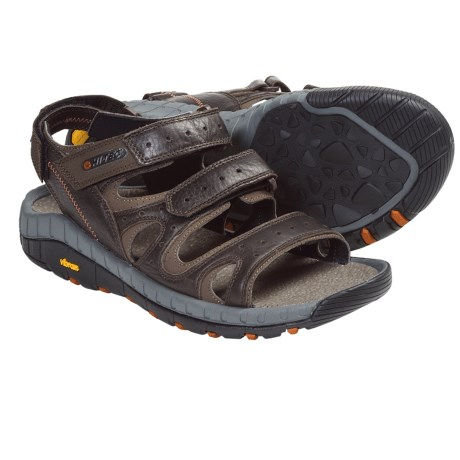 Hi-Tec Sierra Canyon Pass Sport Sandals - Leather (For Men) in Dark Chocolate