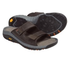 Hi-Tec Sierra Canyon Slide Sandals - Leather (For Men) in Dark Chocolate - Closeouts