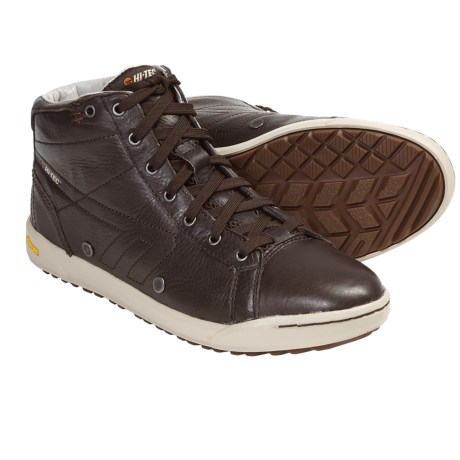 Hi-Tec Sierra Mid Shoes - Leather (For Men) in Dark Chocolate