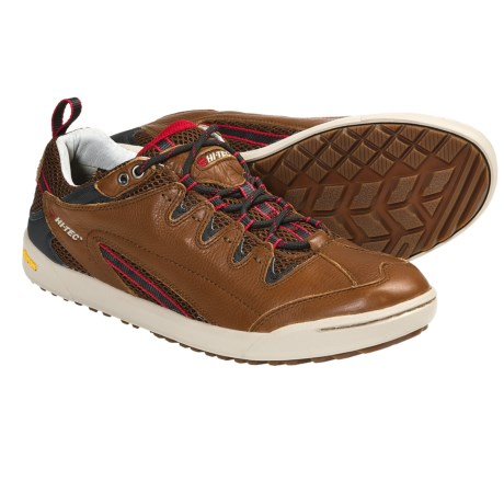Hi-Tec Sierra Sneakers - Leather (For Men) in Tan/Red