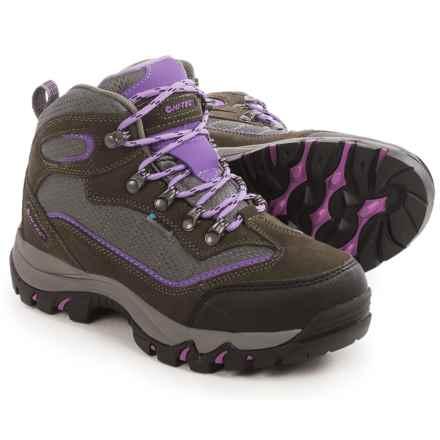 Hi-Tec Skamania Hiking Boots - Waterproof, Suede (For Women) in Grey/Viola - Closeouts