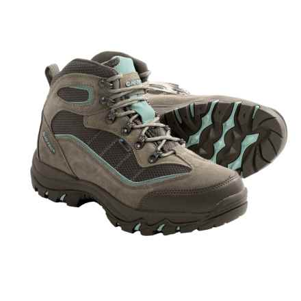 Hi-Tec Skamania Hiking Boots - Waterproof, Suede (For Women) in Taupe/Smokey Brown/Mint - Closeouts