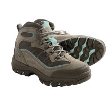 Hi-Tec Skamania Hiking Boots - Waterproof, Suede (For Women) in Taupe/Smoky Brown/Mint - Closeouts