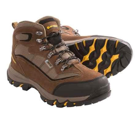 Hi-Tec Skamania Mid Hiking Boots - Waterproof, Suede (For Men) in Brown/Gold - Closeouts