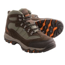 Hi-Tec Skamania Mid Hiking Boots - Waterproof, Suede (For Men) in Chocolate/Dark Taupe/Orange - Closeouts