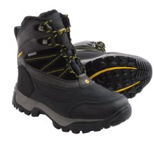 Hi-Tec Snow Peak 200 Snow Boots - Waterproof, Insulated (For Men) in Black/Gold - Closeouts