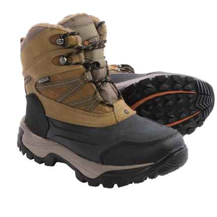 Hi-Tec Snow Peak 200 Snow Boots - Waterproof, Insulated (For Men) in Tan/Black - Closeouts