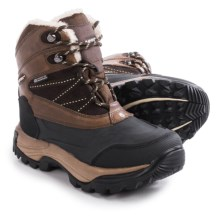 Hi-Tec Snow Peak 200 Snow Boots - Waterproof, Insulated, Leather (For Women) in Chocolate/Snow - Closeouts