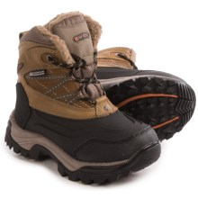 Hi-Tec Snow Peak 200g Thinsulate® Snow Boots - Waterproof, Leather (For Little and Big Kids) in Tan/Black - Closeouts