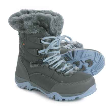 Hi-Tec St. Moritz Lite 200 Snow Boots - Waterproof, Insulated (For Big Kids) in Charcoal/Steel Grey/Luster - Closeouts