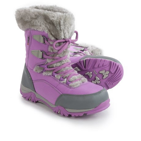 Hi-Tec St. Moritz Lite 200 Winter Boots - Waterproof, Insulated (For Little and Big Girls) in Orchid/Cool Grey