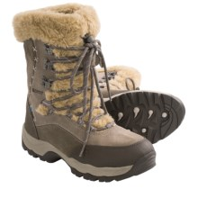 Hi-Tec St. Moritz Winter Boots - Waterproof, Insulated (For Women) in Olive/Taupe/Stone - Closeouts