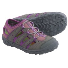 Hi-Tec Tortola Escape Jr. Water Sandals (For Big Kids) in Warm Grey/Orchid/Horizon - Closeouts