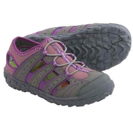 Hi-Tec Tortola Escape Jr. Water Sandals (For Big Kids) in Warm Grey/Orchid/Horizon - Closeouts