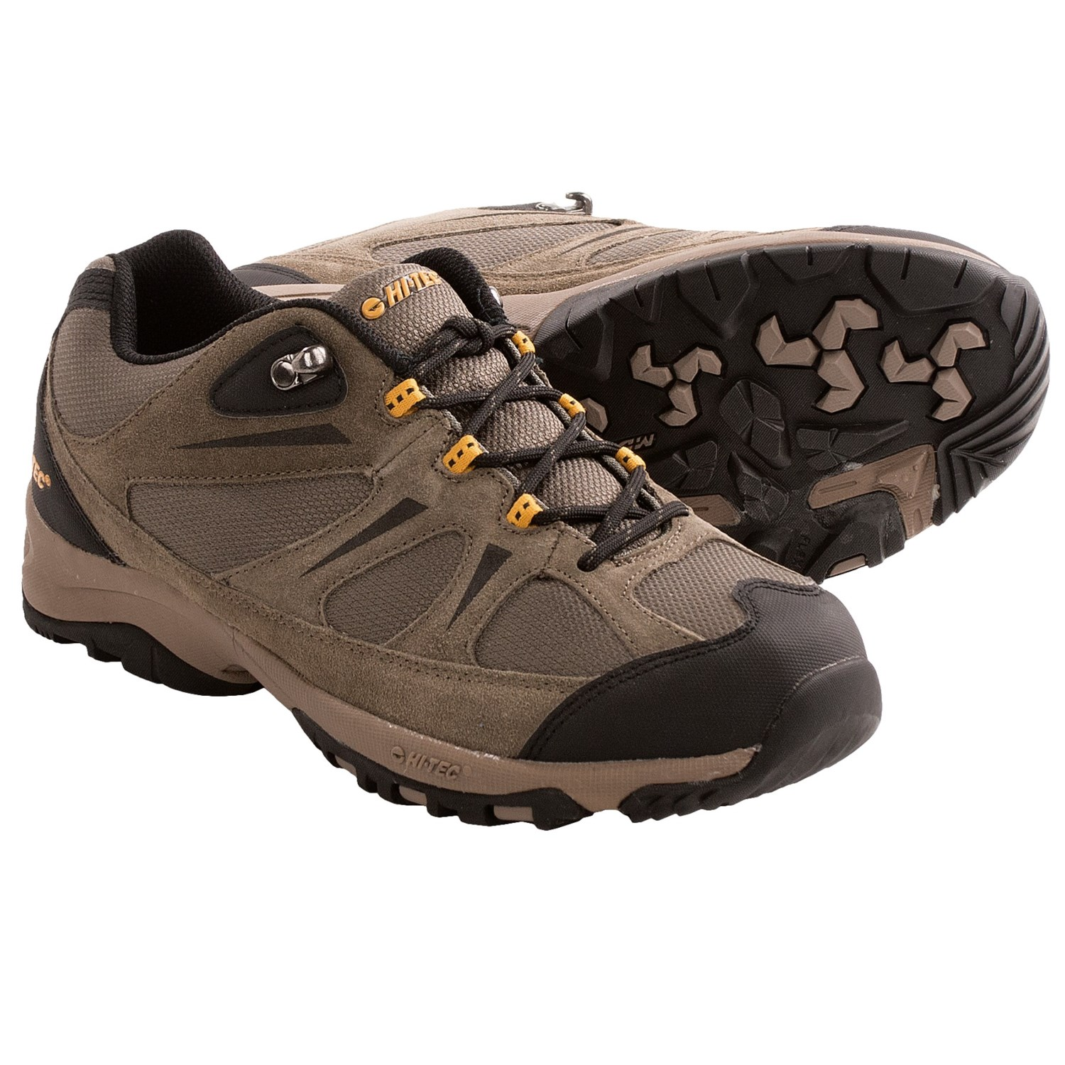 Hi-Tec Trail II Low Hiking Shoes (For Men) in Dark Taupe/Gold