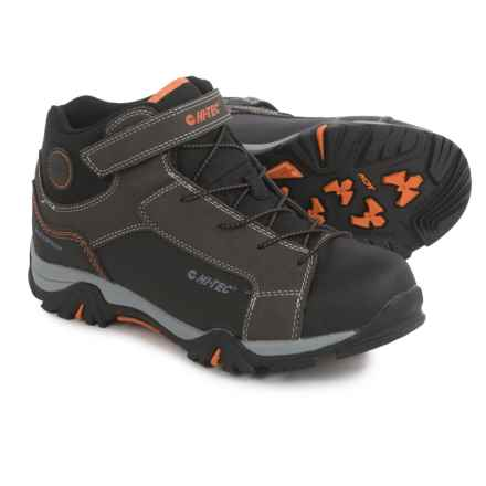 Hi-Tec Trail Ox Mid Hiking Boots - Waterproof (For Big Kids) in Dark Chocolate/Black/Burnt Orange - Closeouts
