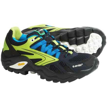 Hi-Tec V-Lite Flash Force Low I Trail Shoes (For Men) in Navy/Limencello/Aqua - Closeouts