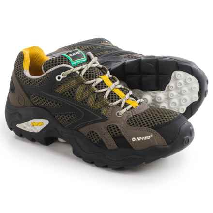 Hi-Tec V-Lite Flash Force Low I Trail Shoes (For Men) in Olive/Dark Taupe/Core Gold - Closeouts