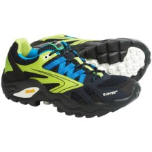 Hi-Tec V-Lite Flash Force Low I Trail Shoes - Waterproof (For Men) in Navy/Limencello/Aqua - Closeouts