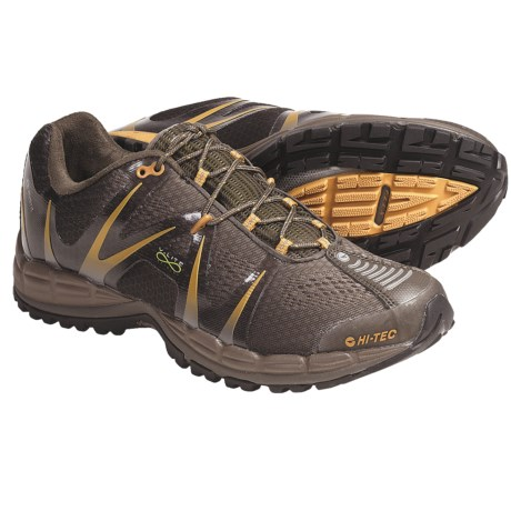 Hi-Tec V-Lite Infinity Trail Running Shoes - Waterproof (For Men) in Olive/Taupe/Burnt Orange