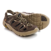 Hi-Tec V-Lite Walk-Lite Shandal RGS Sandals (For Men) in Dark Chocolate/Burnt Orange - Closeouts