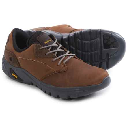 Hi-Tec V-LITE Walk-Lite Witton Shoes - Leather (For Men) in Dark Chocolate/Brown/Core Gold - Closeouts
