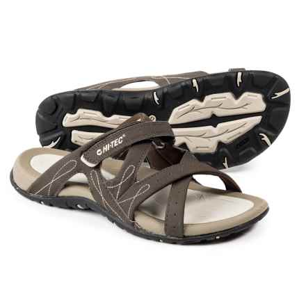 Hi-Tec Waimea Slide Sandals (For Women) in Chocolate/Light Taupe/Sand - Closeouts