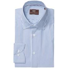 Hickey Freeman Banker Stripe Dress Shirt - Long Sleeve (For Men) in 431 Cobalt - Closeouts
