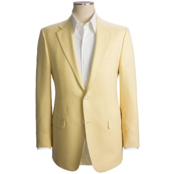 Hickey Freeman Basket Weave Sport Coat - Lambswool-Cashmere (For Men) in Tan