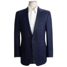 Hickey Freeman Basket Weave Sport Coat - Silk (For Men) in Navy - Closeouts