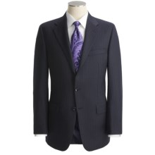 Hickey Freeman Beaded Contrast Stripe Suit - Lindsey Model, Worsted Wool (For Men) in Navy/Lavender - Closeouts