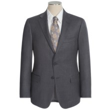 Hickey Freeman Beaded Narrow Stripe Suit - Worsted Wool (For Men) in Charcoal - Closeouts