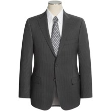 Hickey Freeman Beaded Stripe Suit - Wool (For Men) in Black - Closeouts