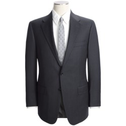 Hickey Freeman Beaded Stripe Suit - Worsted Wool (For Men) in Charcoal