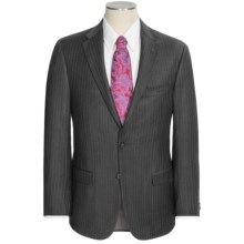 Hickey Freeman Beaded Stripe Suit - Worsted Wool (For Men) in Charcoal - Closeouts