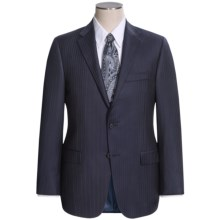 Hickey Freeman Beaded Stripe Suit - Worsted Wool (For Men) in Navy - Closeouts