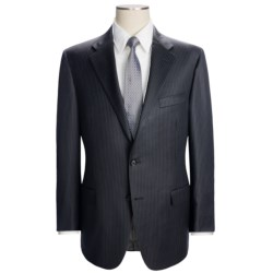 Hickey Freeman Beaded Track Stripe Suit - Worsted Wool (For Men) in Navy