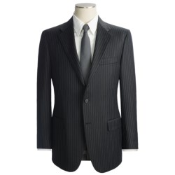 Hickey Freeman Chalk Stripe Suit - Worsted Wool (For Men) in Black