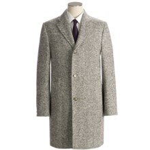 Hickey Freeman Chevron Top Coat - Wool (For Men) in Dark Taupe - Closeouts