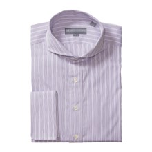 Hickey Freeman Corded Stripe Dress Shirt - Cotton, Long Sleeve (For Men) in Lavender - Closeouts