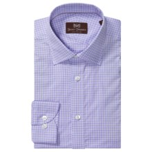 Hickey Freeman Cotton Check Dress Shirt - Long Sleeve (For Men) in Pink Glaze - Closeouts