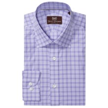 Hickey Freeman Cotton Check Dress Shirt - Long Sleeve (For Men) in Sky Blue - Closeouts