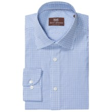 Hickey Freeman Cotton Check Dress Shirt - Spread Collar, Long Sleeve (For Men) in Blue Bay - Closeouts