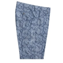 Hickey Freeman Cotton Paisley Shorts (For Men) in Indigo - Closeouts